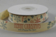 CR Ribbon: Cream Cotton Ribbon with Merry Christma & Happy New Year 15mm